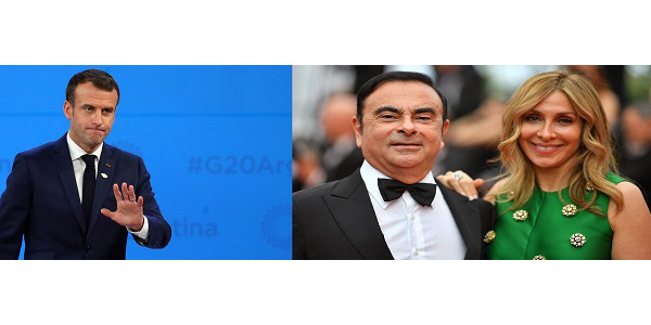 Affaire Ghosn: Son épouse Carole interpelle Emmanuel Macron